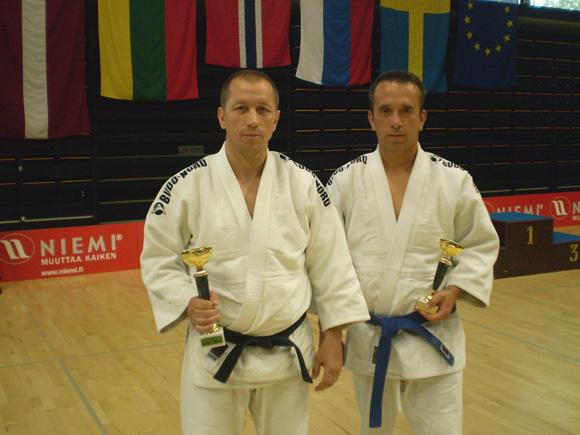R. Lukošius (kairėje) su R. Jurgučiu.