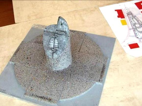 Skulptūros Šilutės jubiliejui maketas. (Šilutės r. sav. nuotr.)