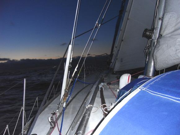 Biskaja: prieš vėją. ('Ragainė II' įgulos nuotr.)