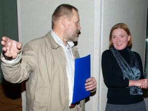 Jonas Purlys su Dzido dukra Rūta Žilinskaite. (Edvardo Jurjono nuotr.)