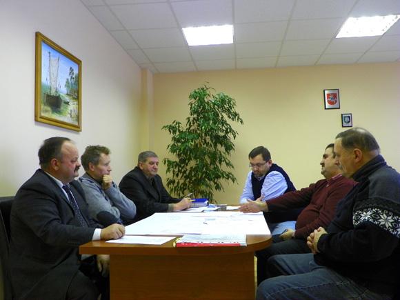 Pirmasis darbo grupės posėdis. (Šilutės žemės ūkio mokyklos nuotr.)