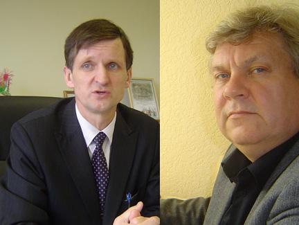 Šilutės 'tvarkiečių' kandidatų į rajono tarybą sąraše J. Jaunių (kairėje) pakeitė A. Kvederis.