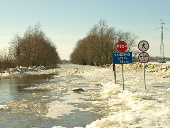 Susisiekimo ministerija nesiruošia skirti daugiau pinigų estakados potvynio apsemiamame kelyje iš Šilutės į Rusnę projektui parengti. (Edvardo Jurjono nuotr.)
