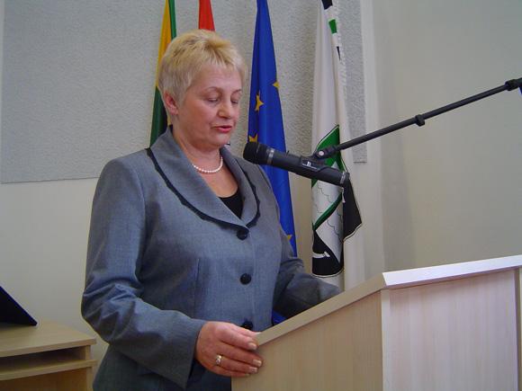 Taryboje S. Skutulienė nesiruošia šlietis nei prie valdančiosios daugumos, nei prie opozicijos. (Oresto Lidžiaus nuotr.)
