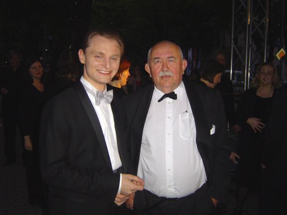 Vakaro žvaigždės: L. Mikalauskas (kairėje) ir D. Katkus. (Oresto Lidžiaus nuotr.)