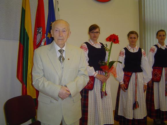Šilutės garbės pilietis V. Vaicekauskas. (Oresto Lidžiaus nuotr.)