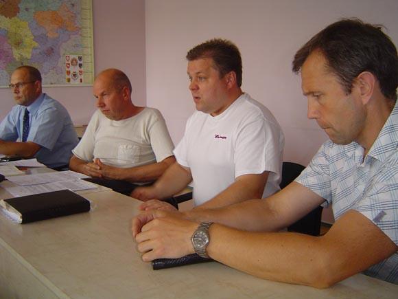 Antikorupcijos komisijos nariai (iš kairės): R. Ambrozaitis, E. Vitkauskas, D. Pundžius, A. Gečas. (Oresto Lidžiaus nuotr.)