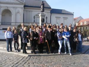 Projekto dalyviai Klaipėdoje. (Degučių m-los nuotr.)