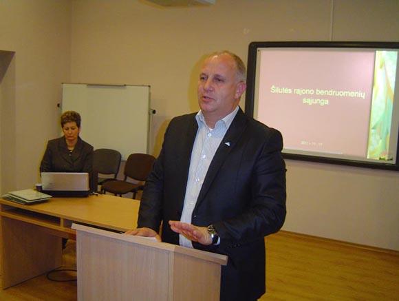 S. Stankevičius žada sukurti rajone NVO sektoriaus plėtrai itin palankią aplinką. (Oresto Lidžiaus nuotr.)