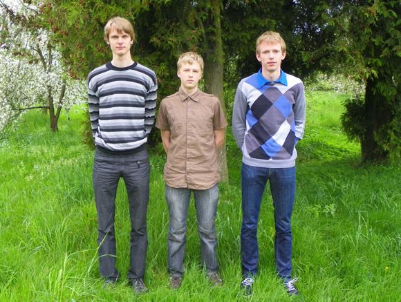 Iš kairės: Evaldas, Vytautas, Andrius. (Igno Mikalausko nuotr.)