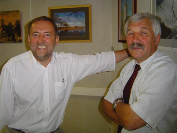 Du buvę merai - Š. Laužikas (kairėje) ir A. Balčytis - paskirti merės D. Žebelienės pavaduotojais. (Oresto Lidžiaus nuotr.)
