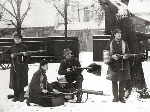 Klaipėdos krašto savanorių armijos kariai. Klaipėda, 1923 m. (archyvai.lt nuotr.)