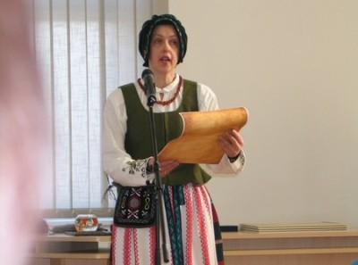 V. Galinskienė - viena iš šilutiškių, apdovanotų Etninės kultūros globos tarybos padėkos raštais. (www.silutesetazinios.lt archyvo nuotr.)