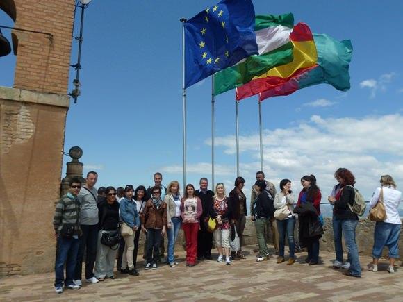 Visų šalių delegacijos Alhambros pilyje. (V. Eidikienės nuotr.)