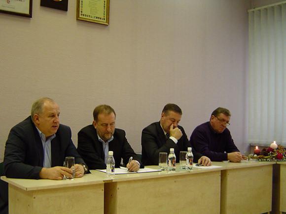 Keturi, iš kairės: S. Stankevičius, Š. Laužikas, V. Pozingis, V. Pavilonis. (Oresto Lidžiaus nuotr.)
