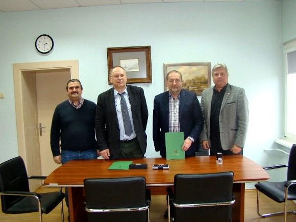Iš kairės: A. Čepys, A. Endzinas, Š. Laužikas, A. Kvederis. (Šilutės r. savivaldybės nuotr.)