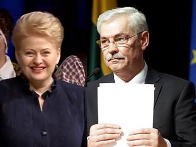 D. Grybauskaitė Prezidente išrinkta antrai iš eilės penkerių metų kadencijai. Z. Balčytis išsaugojo Europos Parlamento nario mandatą. (silutesetazinios.lt montažas)