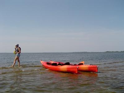 Rusnaitės upės žiotyse vasarą. (www.silutesetazinios.lt archyvo nuotr.)