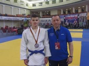 Edvardas Sagalec su treneriu R. Lukošium.