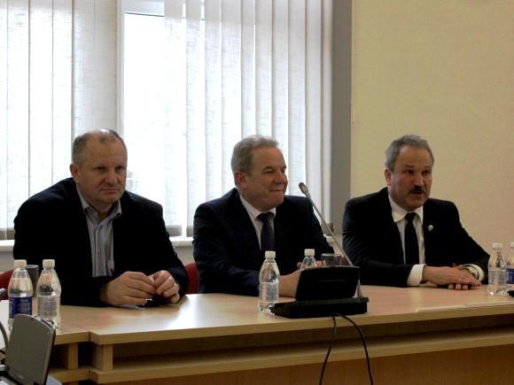 Iš kairės: K. Komskis, K. Trečiokas, V. Laurinaitis. Nuotraukoje trūksta V. Pavilonio. (Oresto Lidžiaus nuotr.)