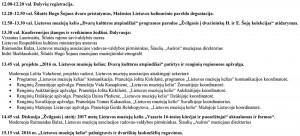 Konferencijos programa.