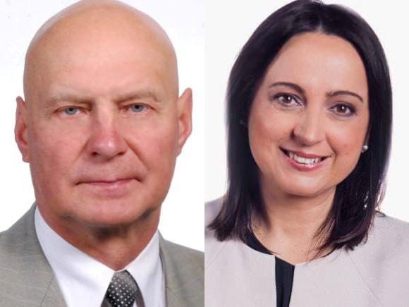Kovą dėl Seimo nario mandato Šilutėje tęsia A.S. Nausėda ir S. Tamašauskienė. (www.silutesetazinios.lt montažas)