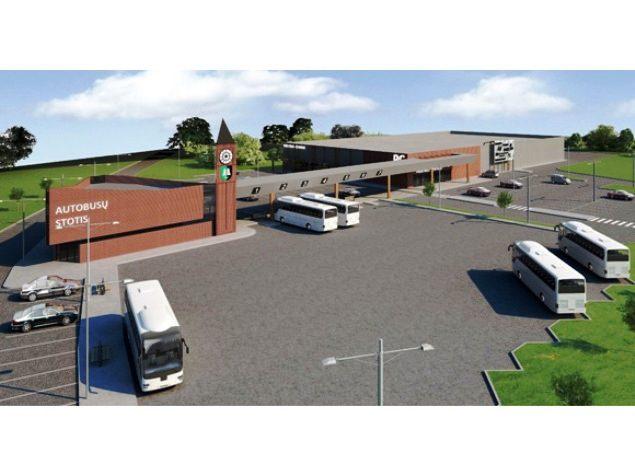 Taip galėtų atrodyti nauja Šilutės autobusų stotis. (UAB 'Projestos projektai' vizualizacija)