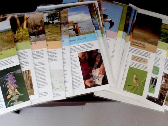 Projekto metu buvo išleisti 38 trumpi ir gausiai iliustruoti leidiniai apie Nemuno deltos paukščius, jų gyvenamąsias vietas bei kitas krašto vertybes. (Organizatorių nuotr.)