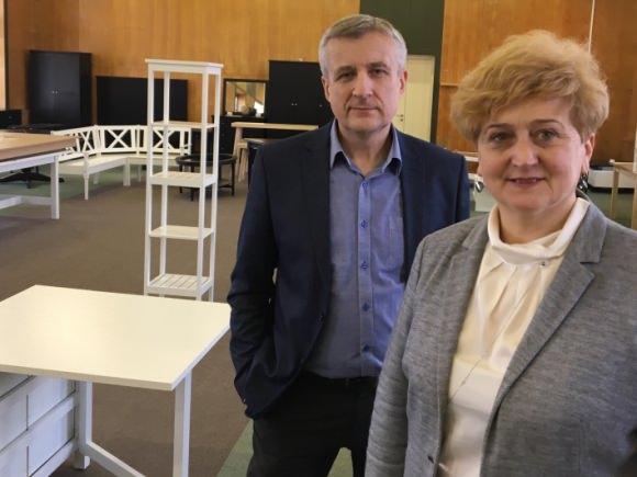 Permainos 'Šilutės balduose': A. Dijokienę keičia E. Jankauskas. (SBA nuotr.)