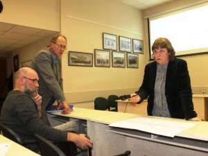 Želdinių atsodinimo lietuvininkų gatvėje planą pristatė kraštovaizdžio architektė A. Lozoraitienė.