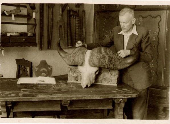 Martynas Toleikis, Šilutės etnografinio muziejaus vyriausias preparatorius. (muziejaus nuotr.)