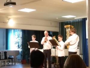 Brass kvartetas.