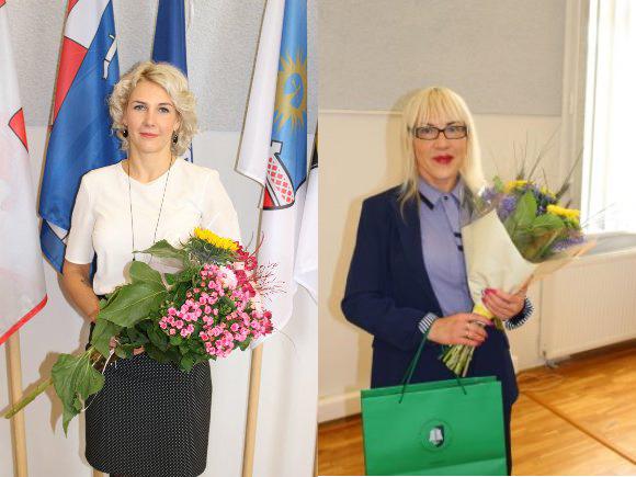Iš kairės: E. Balandė ir I. Girdenienė. (www.silute.lt nuotr.)