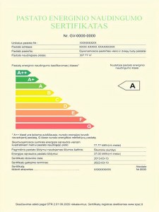 KSK energetinio naudingumo sertifikatas.